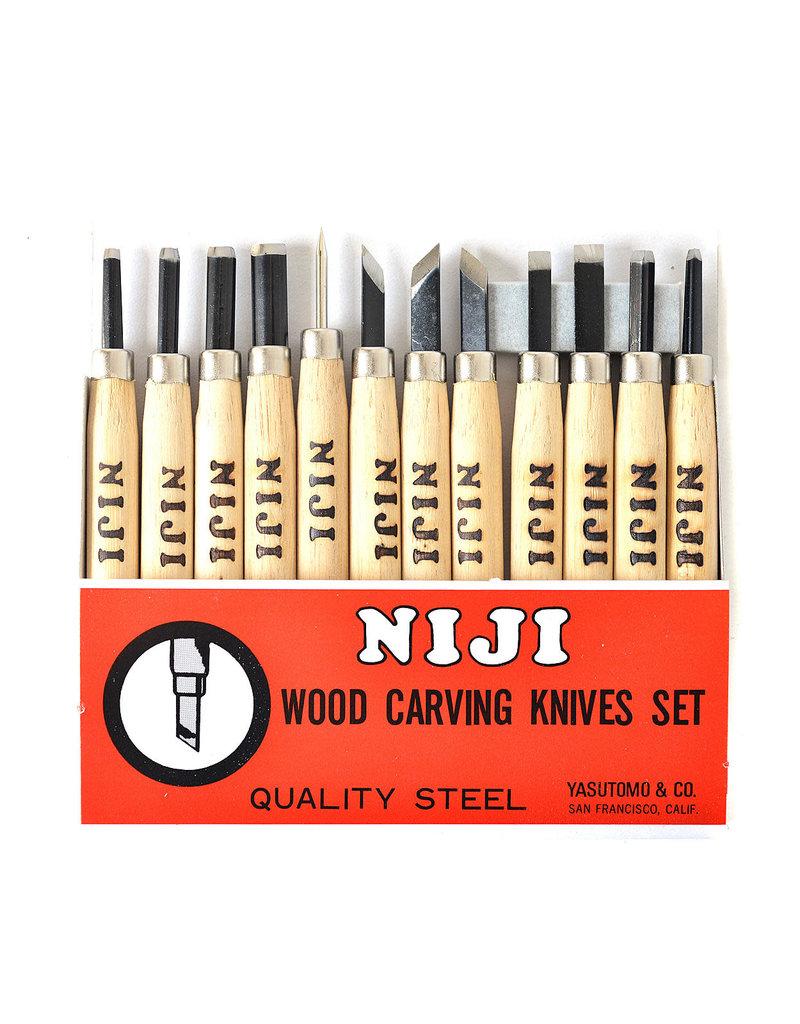 Yasutomo Niji Woodcarving Set 12 Pcs