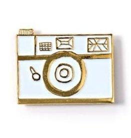 Badge Bomb Enamel Pin Camera