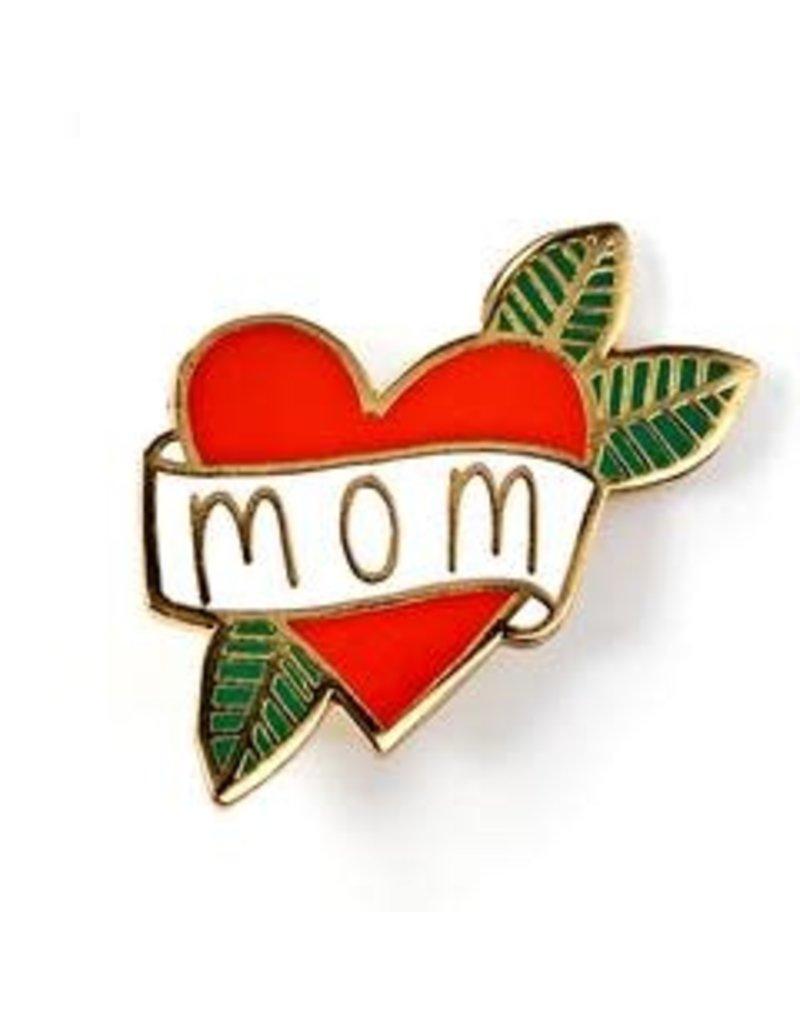 Badge Bomb Enamel Pin Heart Mom