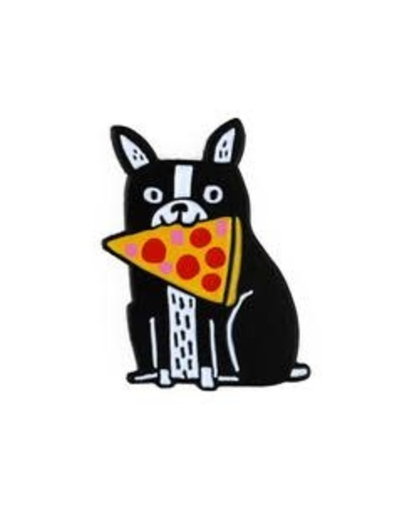 Badge Bomb Enamel Pin Pizza Boston Terrir