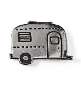 Badge Bomb Enamel Pin Aluminum Trailer
