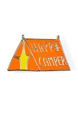 Badge Bomb Enamel Pin Happy Camper Green