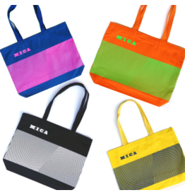 MICA Tote Bag w/ Stripe Design