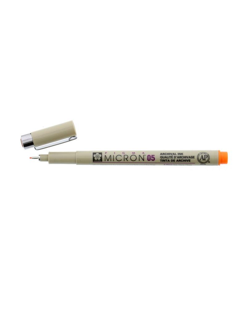 Sakura Micron Pen 05 - .45Mm Orange
