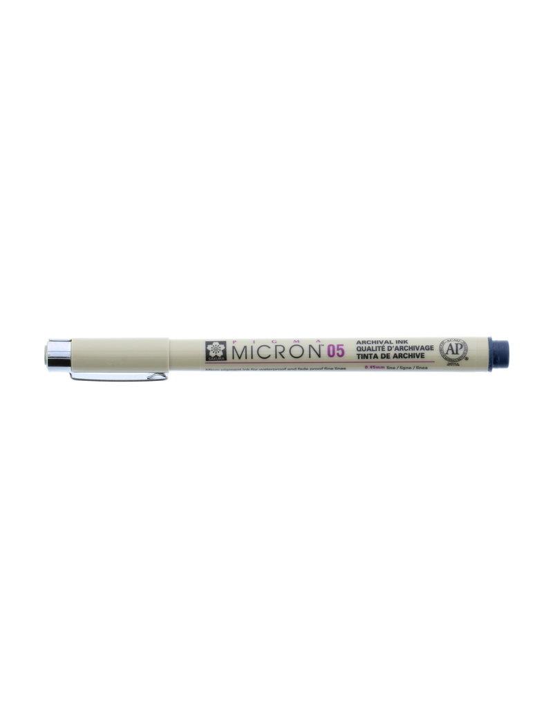 Sakura Micron Pen 05 - .45Mm Blue / Black
