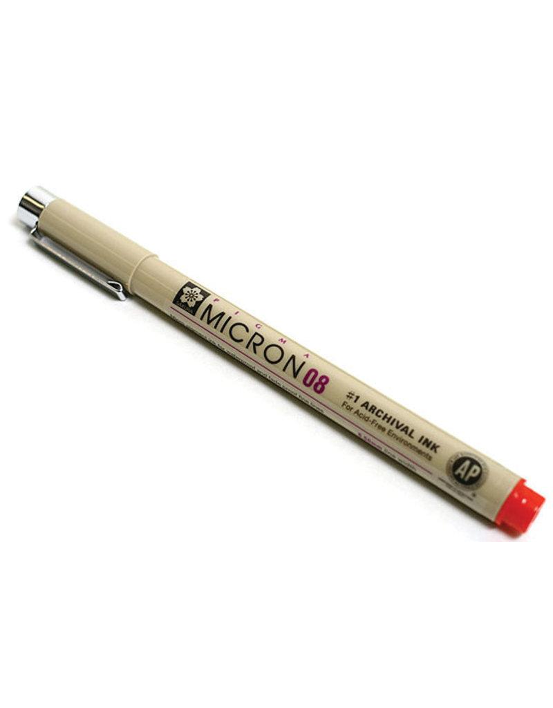 Sakura Micron Pen 08 - .50Mm Red