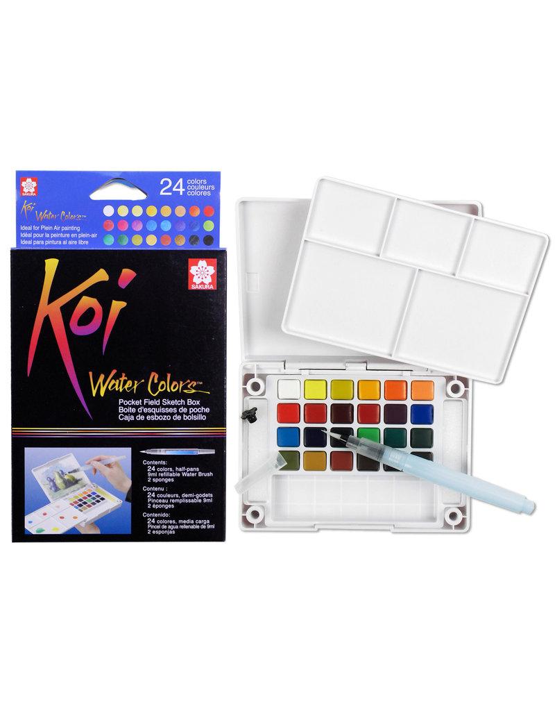 Sakura Koi Watercolor Pocket 24 Field Sketch Box