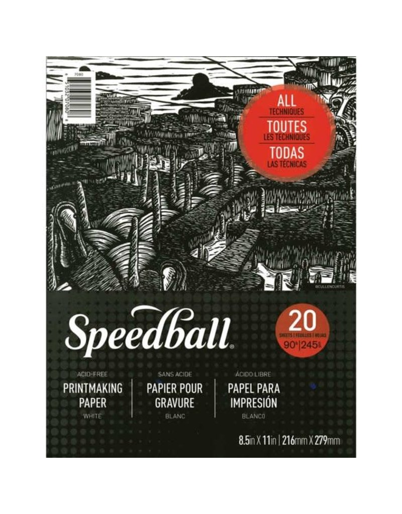 Speedball Speedball Printmaking Paper Pad 8.5''x11''