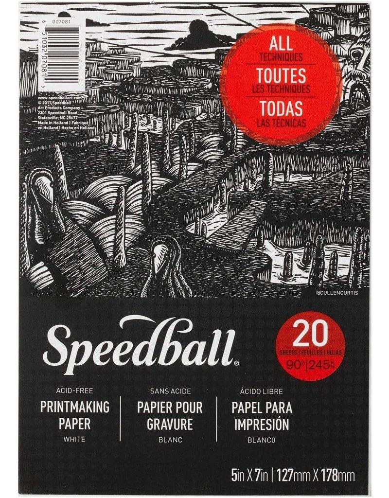 Speedball Speedball Printmaking Paper Pad 5''X7''