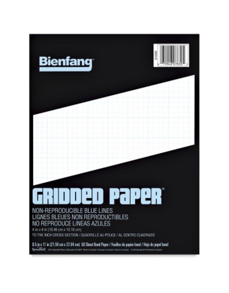 Speedball Bienfang Designer Grid Paper Pad 11x17 -- 10X10 Grid