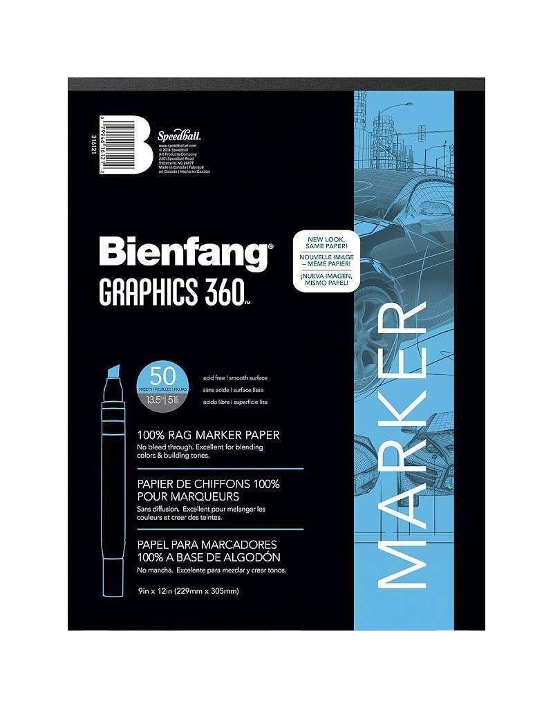 Speedball Bienfang #360 Marker Paper Pad 9x12