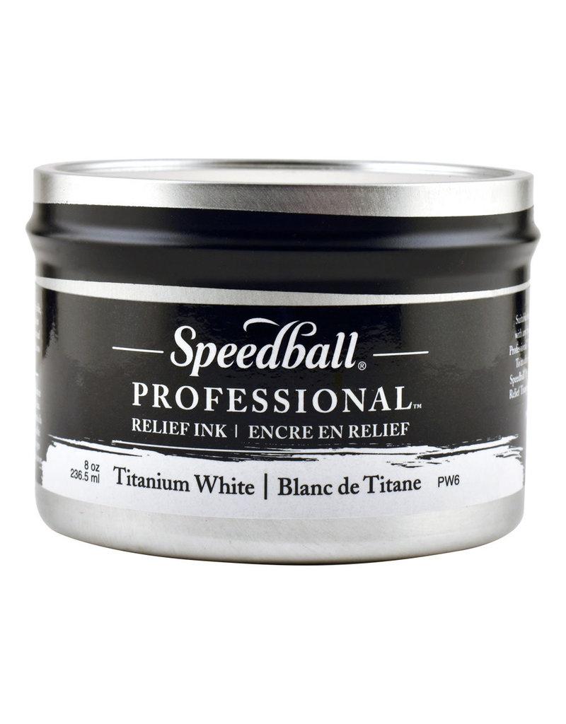 Speedball 8Oz Professional Relief Ink Titanium White