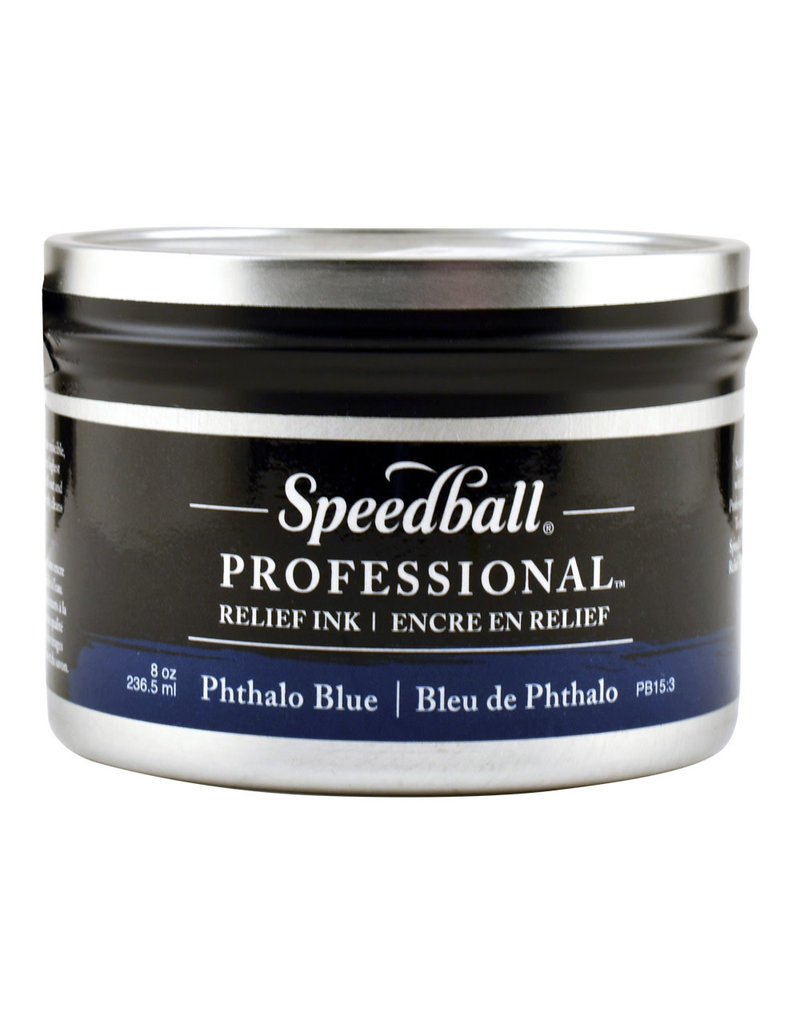 Speedball 8Oz Professional Relief Ink Phthalo Blue