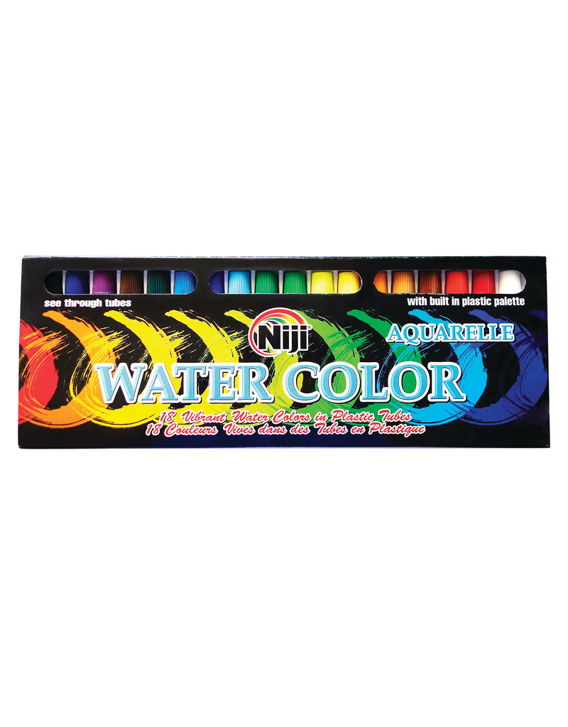 Yasutomo Niji Watercolor Sets, 18-Color Set