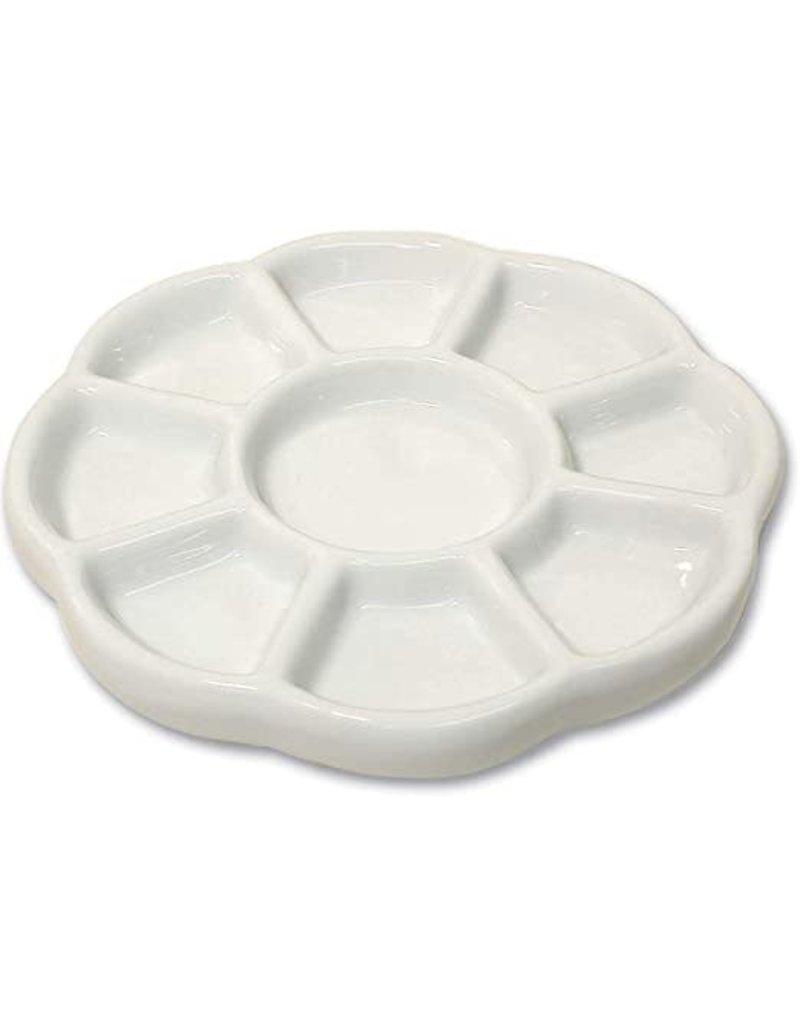 Yasutomo Porcelain Tray Round 8 Section