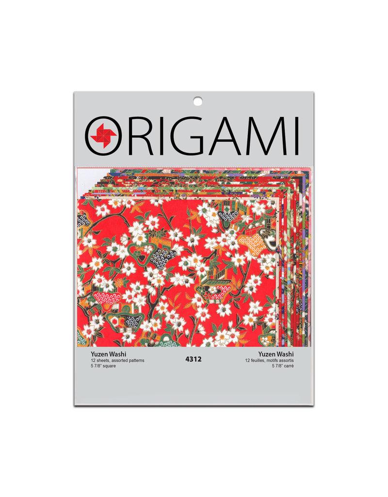 Yasutomo Origami Yuzen Red 5 7/8 12 Sheets