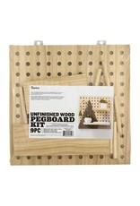 Darice Wood Pegboard Kit 11.5 x 11.5 in 9 pcs