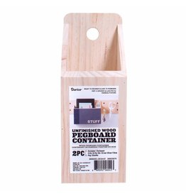Darice Wood Pegboard Container 8.75 x 5.5 in