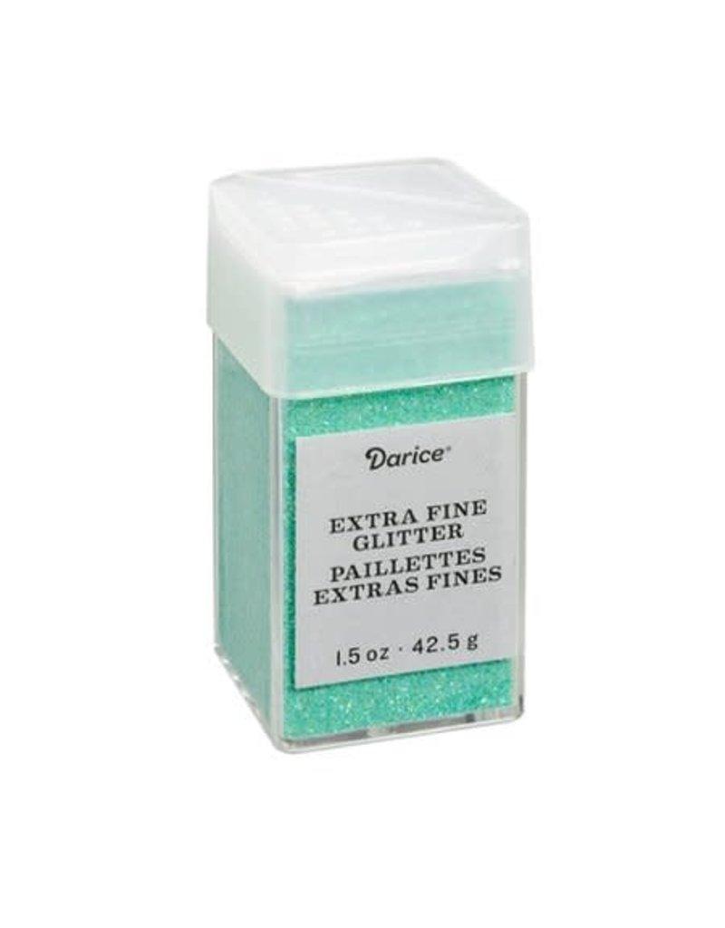 Darice Extra Fine Glitter: Sea Green, 1.5 Ounces