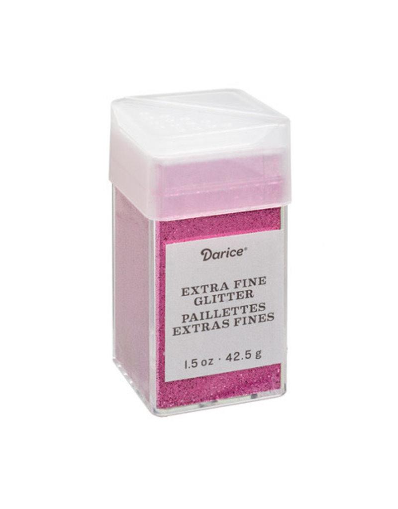 Darice Extra Fine Glitter: Raspberry Pink, 1.5 Ounces