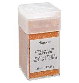 Darice Extra Fine Glitter: Pumpkin, 1.5 Ounces