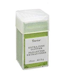 Darice Extra Fine Glitter: Pesto, 1.5 Ounces