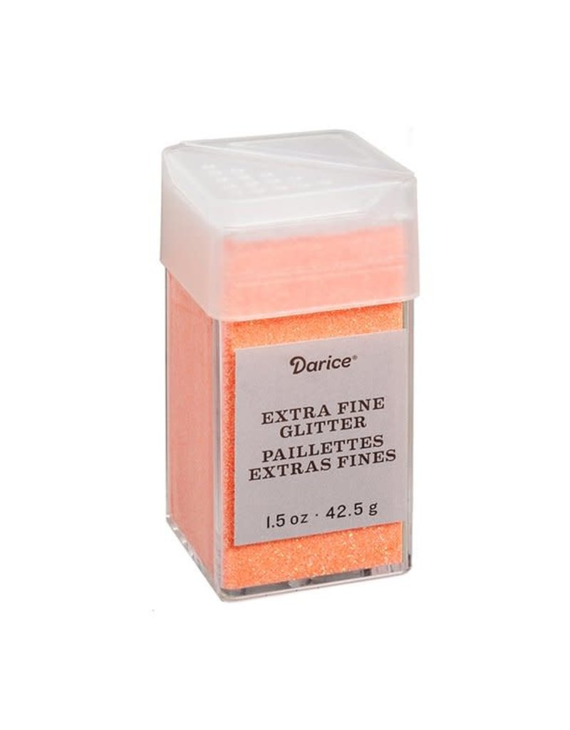 Darice Extra Fine Glitter: Neon Orange, 1.5 Ounces