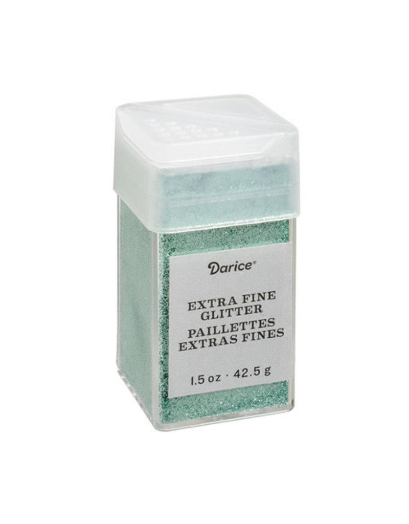 Darice Extra Fine Glitter: Mint Green, 1.5 Ounces