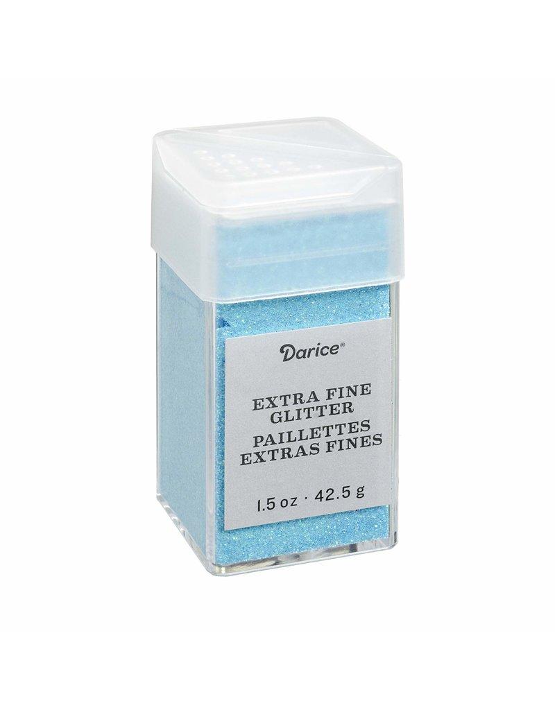 Darice Extra Fine Glitter: Frost Blue, 1.5 Ounces
