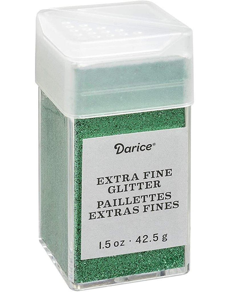 Darice Extra Fine Glitter: Emerald, 1.5 Ounces