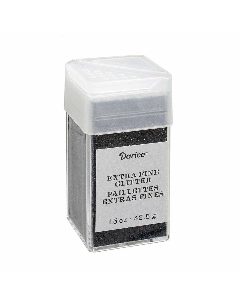Darice Extra Fine Glitter: Ebony, 4.5 Ounces