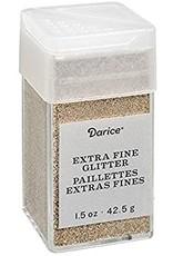 Darice Extra Fine Glitter: Champagne, 1.5 Ounces