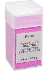Darice Extra Fine Glitter: Bubblegum, 1.5 Ounces