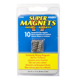 Magnet Source Super Neodymium Disc Magnets, .315'' Dia. X .118'' Thk. 10/Pkg.