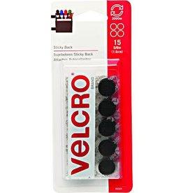 Velcro Velcro Tape, 5/8'' Coins 15 per pack, Black
