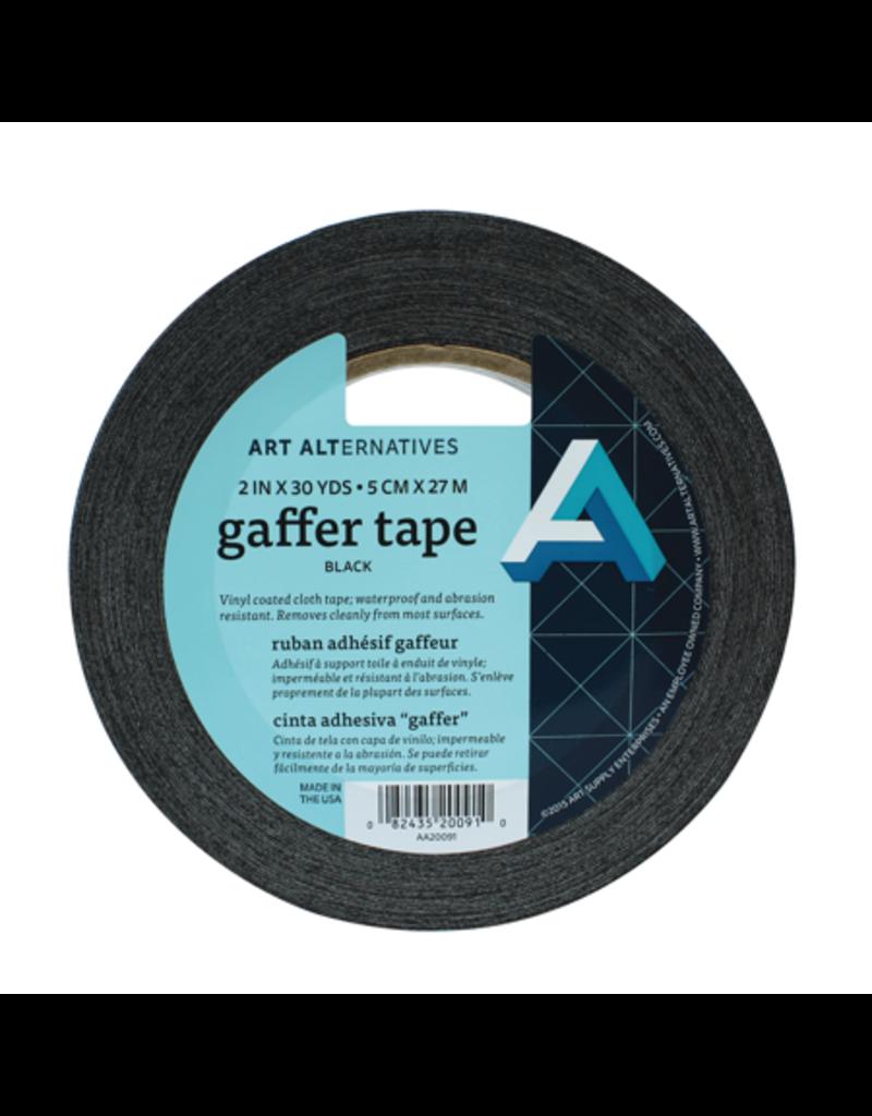 Art Alternatives Tape Gaffer Vinyl Blk 2Inx30Yd
