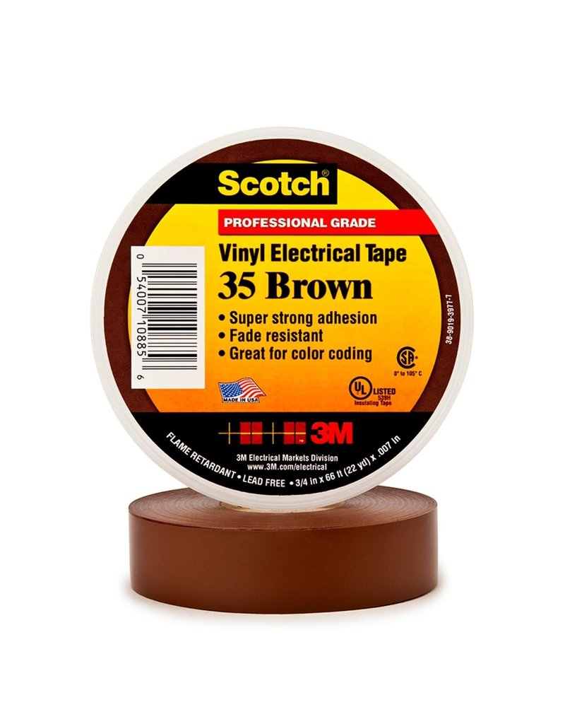 Scotch 3m Tape Electrical Brown  3/4Inx66Ft