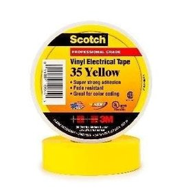 Scotch 3m Tape Electrical Yellow  3/4Inx66Ft