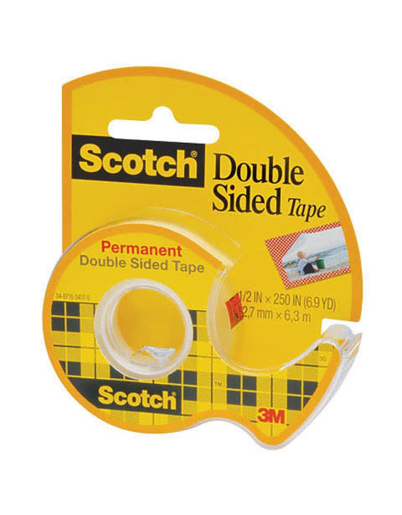Scotch 3m Scotch Double Sided Tape, 1/2'' X 450'' Dispenser