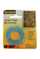 Scotch 3m Scotch Artist Tape For Curves, 1/8'' X 10 Yds.