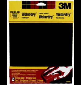 Scotch 3m Wet/Dry Assorted Sandpaper, Five/Sht. 9'' X 11'' 220, 320, 400