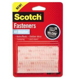 Scotch 3m Scotch Heavy-Duty Fasteners, Clear - 2 Sets Of 1'' X 3'' Strips