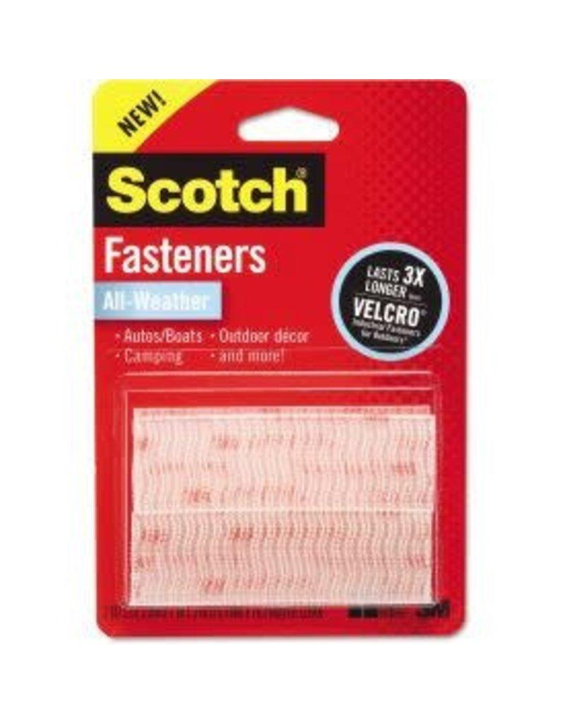 Scotch 3m Scotch Heavy-Duty Fasteners, Clear - 2 Sets Of 1'' X 3'' Strips