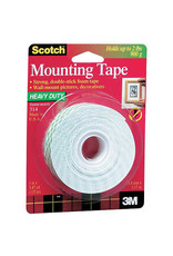 Scotch 3m 314 Heavy-Duty Foam Mounting, 1'' X 125''