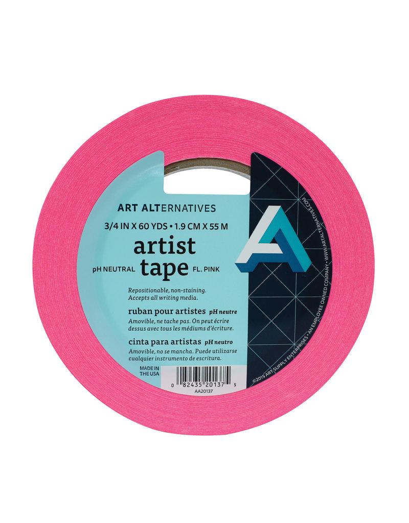 Art Alternatives Tape Artist Fluorescent Pink 3/4Inx60Yd
