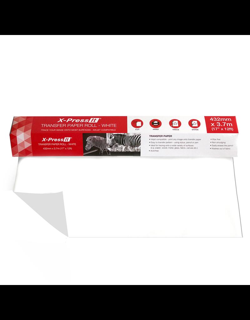 X-Press it Transfer Paper Roll White 17'' X 12Ft