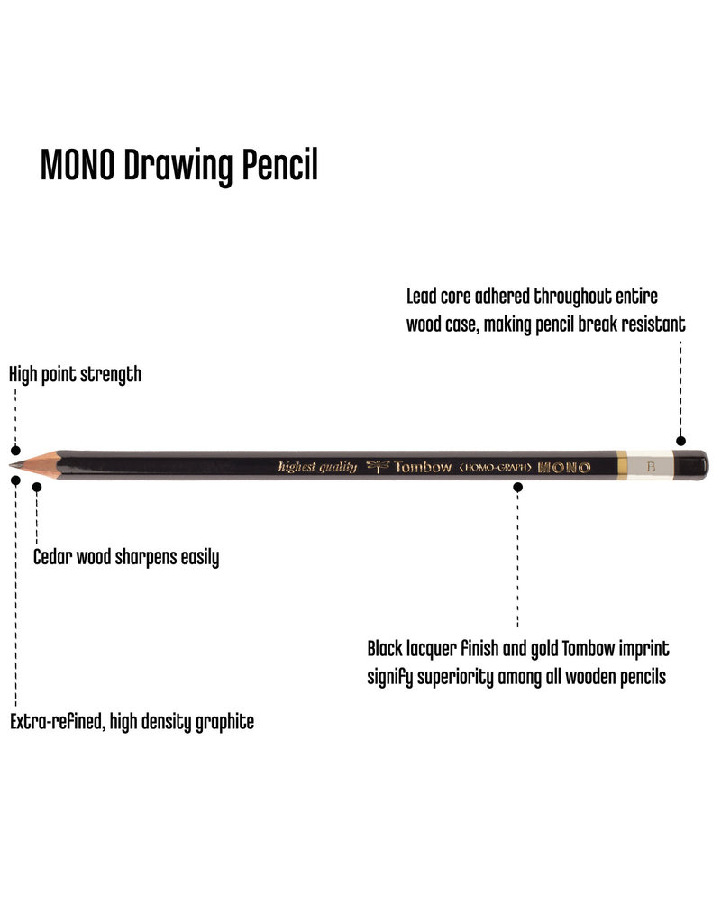 Tombow Mono Drawing Pencil B