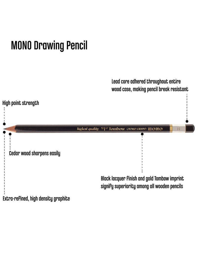 Tombow Mono Drawing Pencil H