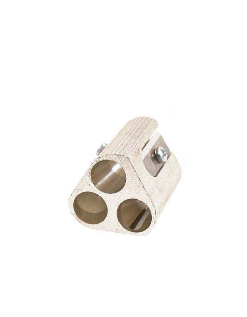 Mobius &Rubbert Aluminum Triple-Hole Pencil Sharpener