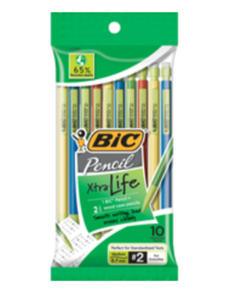 Bic Bic Xtra Life Mechanical Pencil - Black .7Mm 10Pk Bp Colorful Barrel